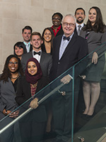 Dean Corkery and Students